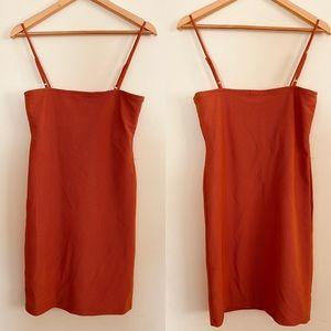 H&H | Spaghetti Strap Ribbed Mini Dress Sz L